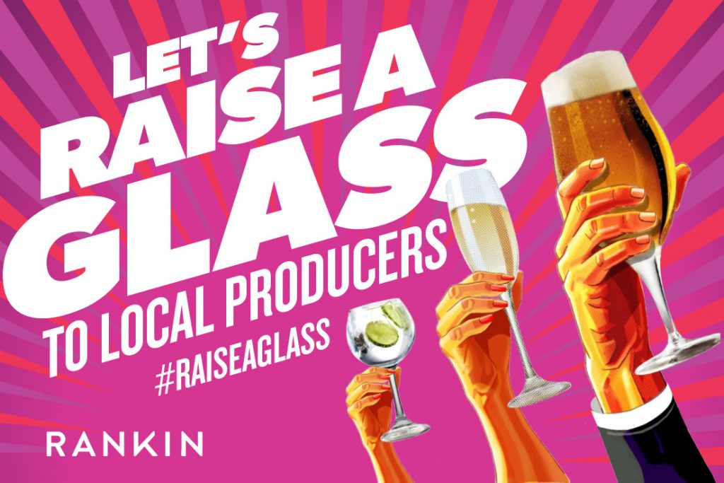 RANKIN Launches #RaiseAGlass Campaign to Support UK & Irish Producers
